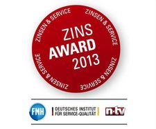 Top-Zins plus Top-Service: Zins-Award 2013